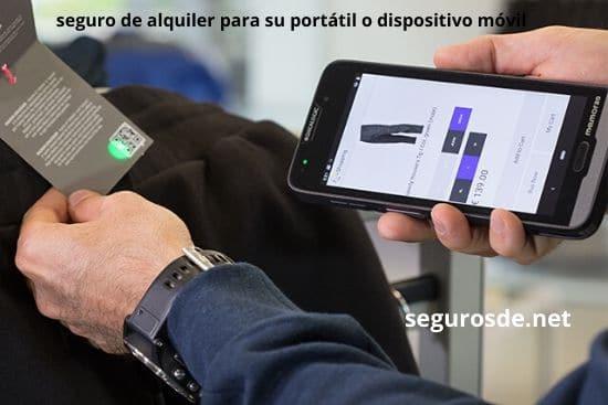 seguro de alquiler para su portátil o dispositivo móvil